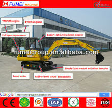 CE certification mini 4.5 tons crawler excavator with 0.17m3 bucket CT45-7A