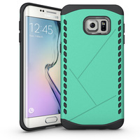Popular selling 2 in 1 armor crashproof phone case for samsung galaxy s6 edge robot case