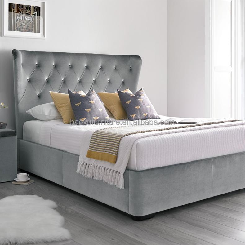 tufted headboard bed photos