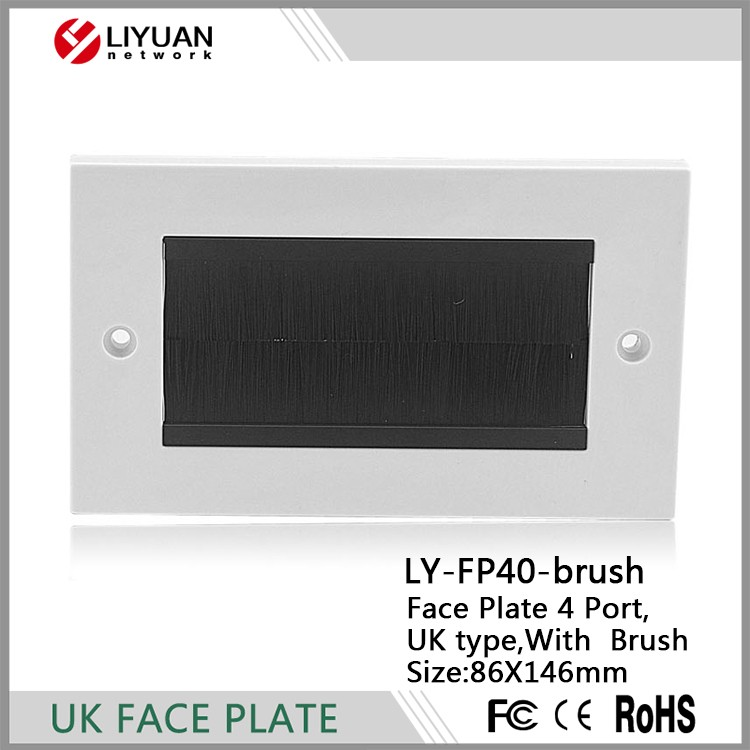 LY-FP40-brush Brush Module Face Plate with Black Brushes