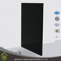 4mm black painted glass for counter tops and room partition