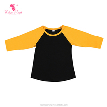 High quality cheap casual kids clothes cotton fabric round neck longline boy t shirts