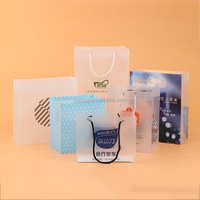 Custom logo promotional gifts cosmetic clear pvc bag with handle