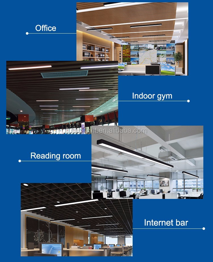 Modern office lighting more saving & more Bright 54w office hanging interior led office lighting