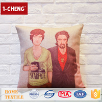 Houseware Creative Celebrity Pattern Printed Custom Pillow Case Sofas Design Massage Cushions