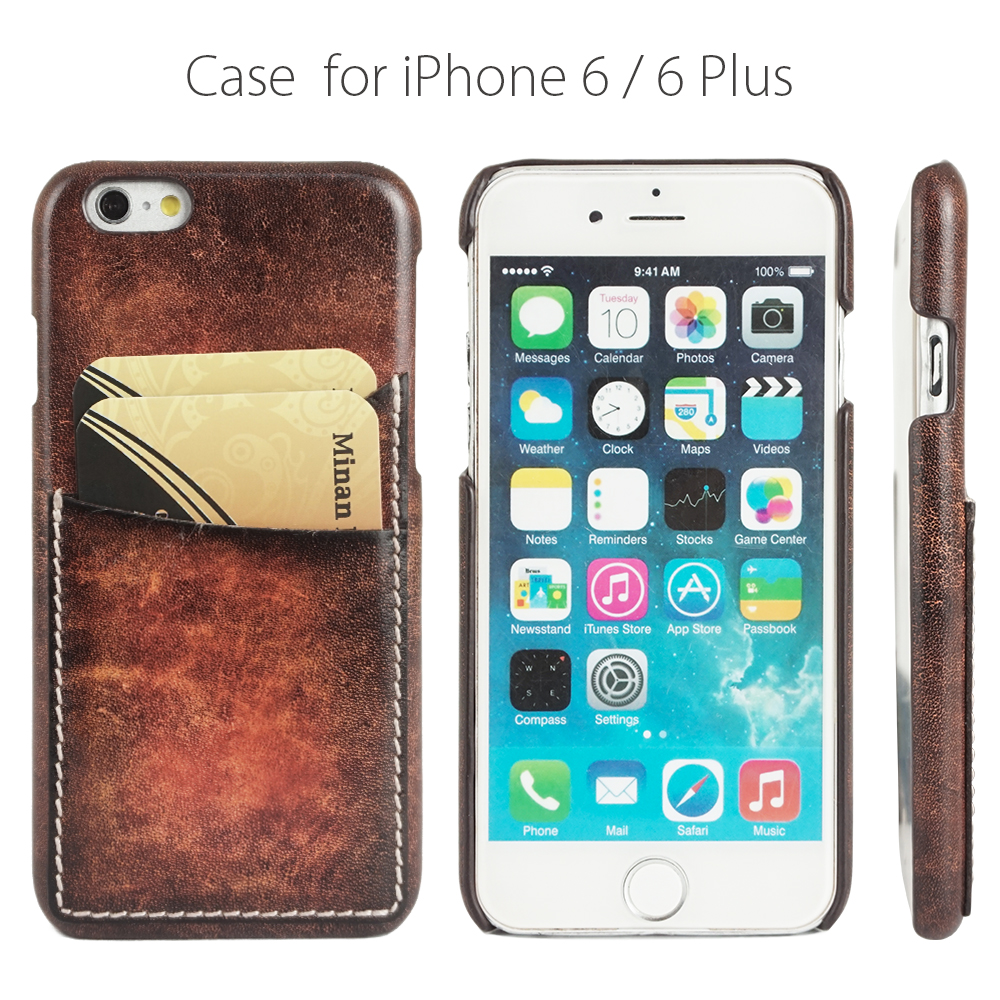 Minandio wholesale china case for cell phone hot trending products for iphone 6 luxury leather cases for iPhone 6 plus