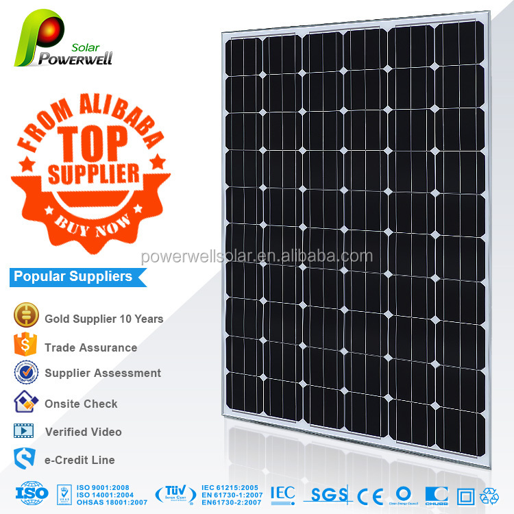 270w 30v monocrystalline silicon solar panel A grade good price with all certifications
