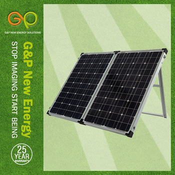 GP 160W Mono Foldable solar panel in high module eficiency for smart solar led light with sensor