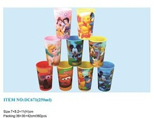 2015 Food Grade Customized 3D Lenticular Cups With Straw