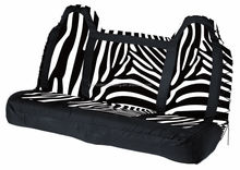 zebra printing car seat cover for rear seat suitable for most similar car