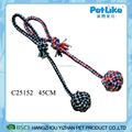 Wholesale Cheap T-Shirt Rope Tug With Small Ball Dog Rope Toys