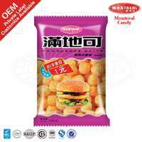 Hamburger flavor snacks food ball shaped food products