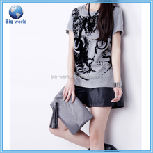 polyester animal New women Euro Size T Shirts One Piece Cartoon Animation Casual Man T shirts Printing Vintage