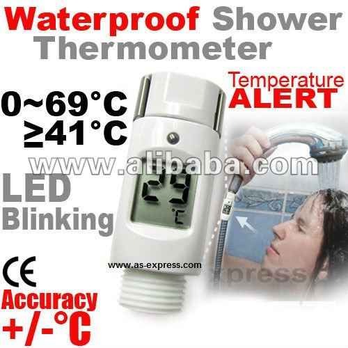 Waterproof Digital Shower Thermometer w/ Alarm Alert BRAND NEW!