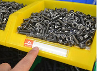 Small Storage Bin Stackable Thick Plastic Parts Shop Garage Organizer