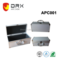Customizd silver color aluminum tool case with handle