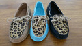 fashion women flat leopard upper dressed lace up slip on casual shoes