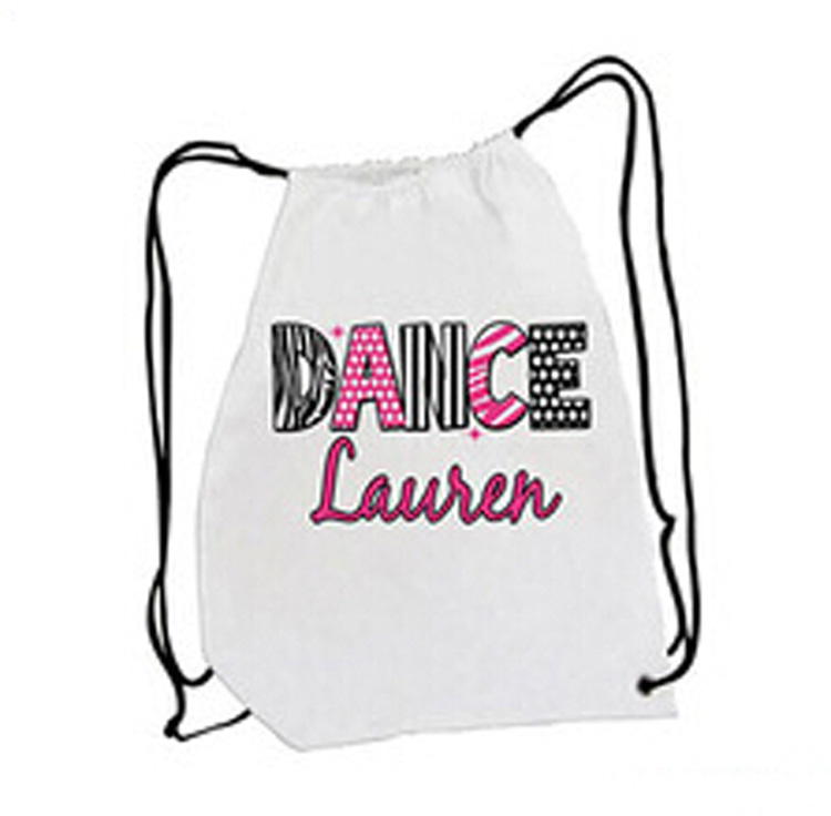 Teens Dancer 210Denier Polyester Drawstring Bag Nylon