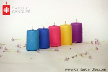 Pressed Pillar Candles 6 Cm Diameter 8 Cm Height