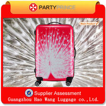 Beautiful Peacock Printing Trolley Luggage For Sale Accept OEM Design Factory In China