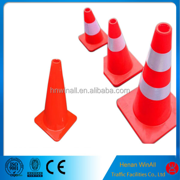 PVC traffic road safety cones With Reflective sleeve
