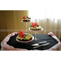 Detachable Set of 3 Acrylic Cake Display Lucite Wedding cake Pedestal Clear Party cake Pillar Stand Display