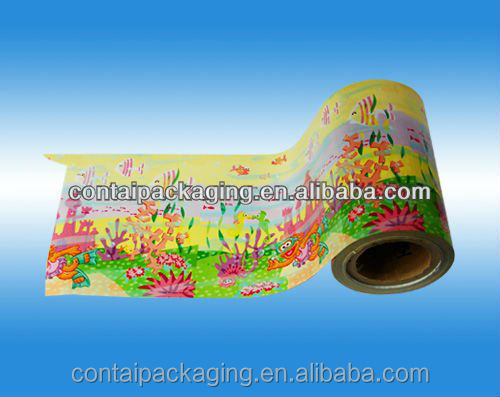 2016 hot sale printed opp plastic film rolls