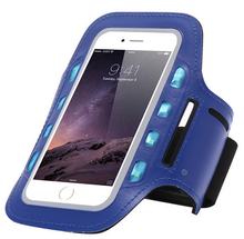 Hot Selling Waterproof Neoprene Sport Running Armband Wrist Mobile Phone Case With LED Light