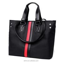 Waterproof nylon black tote bag hobo handbags black shoulder bag
