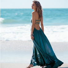 monroo Linen Dresses Summer Women 5 Colors Flowing Romantic Maxi Dresses Long Spaghetti Strap With Pleated Beach Dress