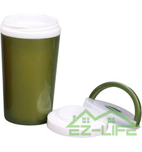 300ml customized logo double wall insulated plastic travel mugs