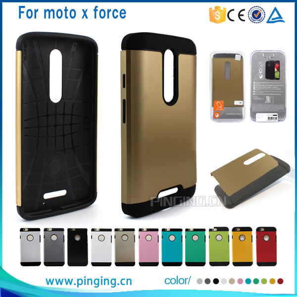 Best Selling TPU+PC Slim Armor Case for Motorola Moto X Force, for Motorola Droid Turbo 2 Case