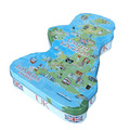 Country Map shaped with any custom design Container Storage Tin Box