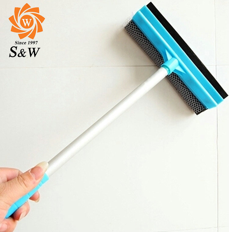 Long Handle Silicone Window Squeegee, Plastic Rubber Squeegee, Window Wiper