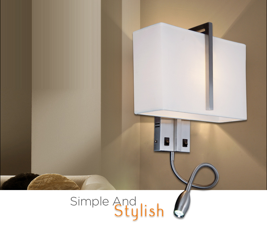 Modern Hotel Project Lamp Led Bedside Reading Wall Lamp With Ce - Buy Wall Lamp,Hotel Project ...