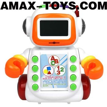 bte-209353 Learning machine Kids multifunctional intelligent cartoon robot styled learning machine with music