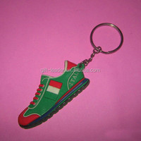 2014 hot sale cheap OEM soft pvc running shoe keychain for 2015 promotion and souvenir made in China
