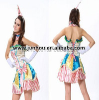 Sexy Party Clown Costume Circus Carnival Fancy Dress Birthday Party Halloween