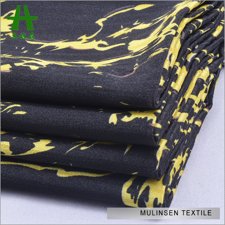 Mulinsen Textile Stripe Jacquard Twist Printed Polyester Stretch Satin Strong Lightweight Fabric