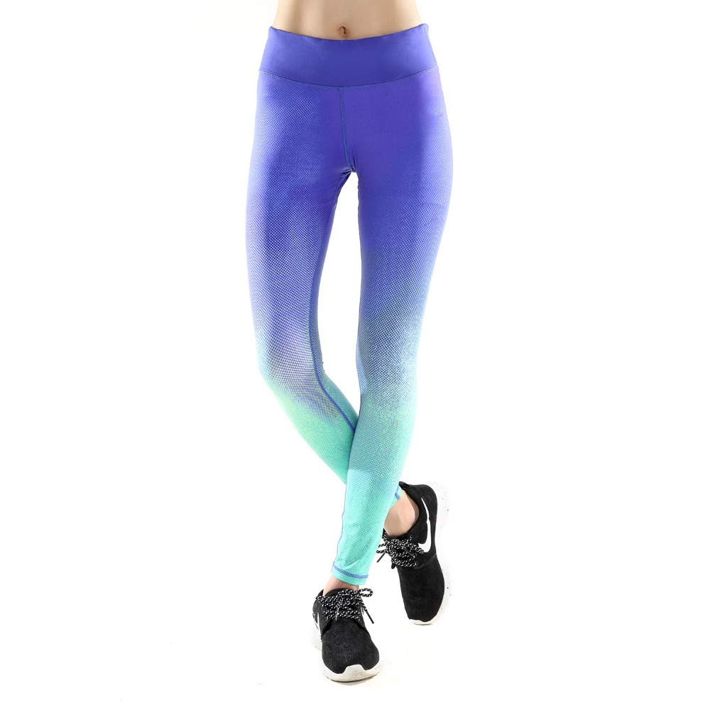 Dry Fit GYM custom printed yoga pants shape fitness yoga sports suit wear tight body fit female