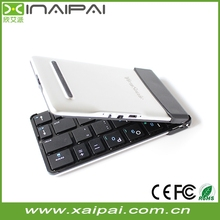 Portable mini wireless bluetooth folding keyboard for smart tv Iphone Ipad Android and Windows tablet
