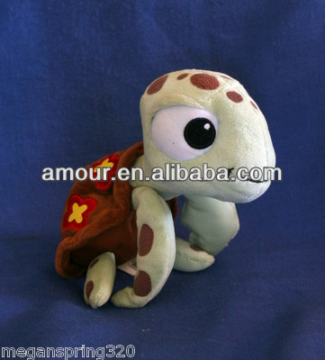 Brown shell plush Turtle stuffed sea animal toys for kids new soft toys made in china