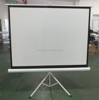 Good effect tripod style outdoor daylight projector screen for sale