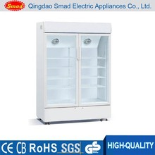 Direct cooling glass display showcase/drink refrigerator/beer cooler