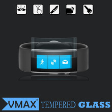 9h 0.33mm Anti fingerprint tempered glass screen protector for Microsoft band 2