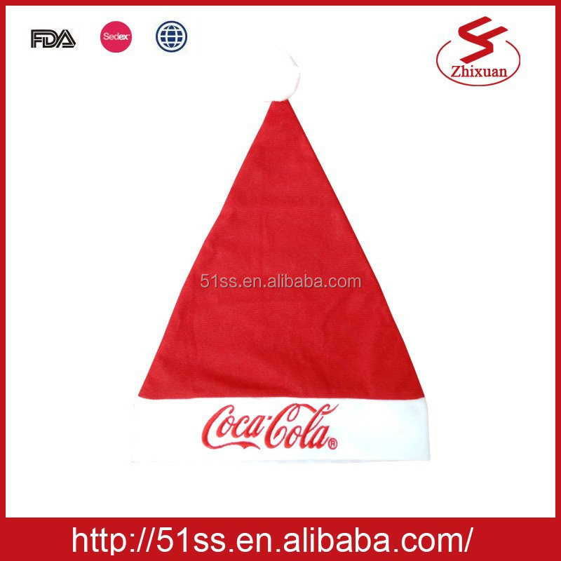 Wholesale promotional gift santa cap felt christmas hat