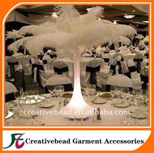 china wholesale artificial ostrich feather for wedding decoration white ostrich feathers 20-65cm