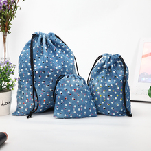 Jean cinch small cotton canvas drawstring shopping shoe storage bag