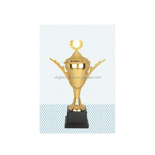 European Gold Plated Victory Metal Medal Sports Trophy Cup