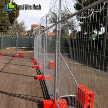 plastic galvanized portable temporary metal fence panels